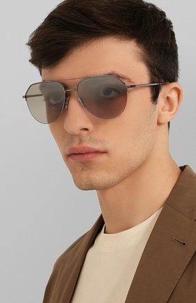 Мужские солнцезащитные очки DOLCE & GABBANA серебряного цвета, арт. 2249-04/6V | Фото 2