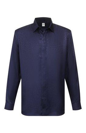 Мужская шелковая рубашка BERLUTI синего цвета, арт. R17HTL52-007   Фото 1