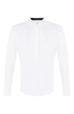 Мужская хлопковая рубашка ZILLI белого цвета, арт. MFT-YD001-13037/RS01 | Фото 1
