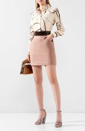 Женская юбка ULYANA SERGEENKO темно-бежевого цвета, арт. GNC005SS19P (0515т19) | Фото 2