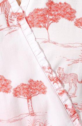 Женский хлопковый халат LE CHAT белого цвета, арт. HARMATTAN860   Фото 5