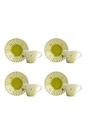 Набор Delphos Absinthe из четырех чашек с блюдцами | Фото №1