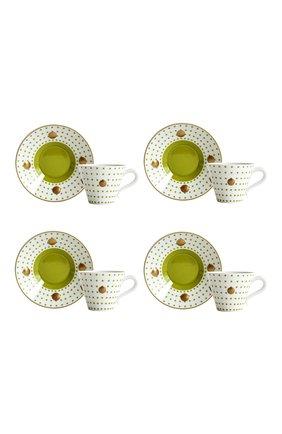 Набор Knossos Absinthe из четырех чашек с блюдцами | Фото №1