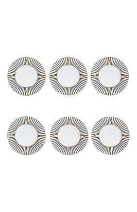 Мужского набор delphos anthracite из шести тарелок BERNARDAUD серого цвета, арт. 1775/22965 | Фото 1