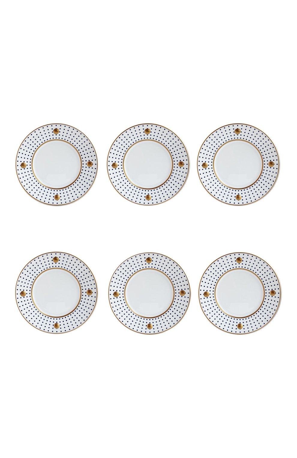 Мужского набор knossos anthracite из шести тарелок BERNARDAUD серого цвета, арт. 1776/22972 | Фото 1
