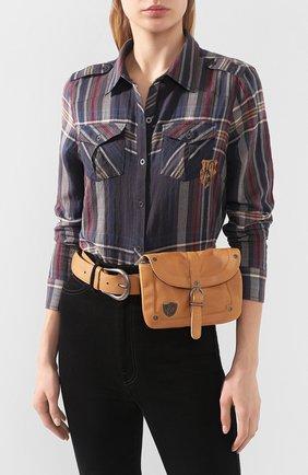 Женская поясная сумка HARLEY-DAVIDSON коричневого цвета, арт. 97751-17VW   Фото 2