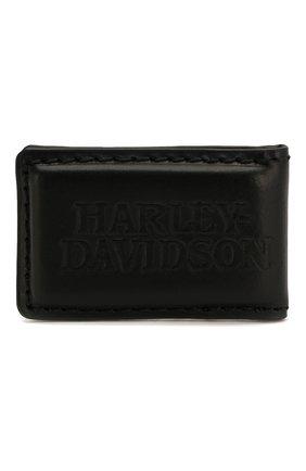 Мужской кожаный зажим для денег HARLEY-DAVIDSON черного цвета, арт. CORESM62-Black | Фото 3