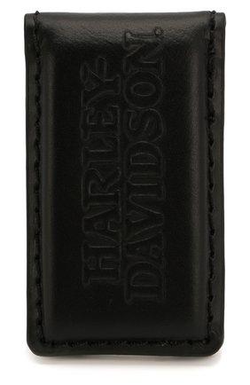 Мужской кожаный зажим для денег HARLEY-DAVIDSON черного цвета, арт. COREBM472-Black | Фото 2