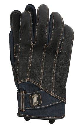 Мужские комбинированные перчатки garage HARLEY-DAVIDSON черного цвета, арт. 98119-20VM | Фото 1