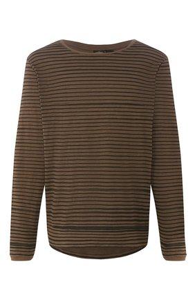 Мужская хлопковый лонгслив black label HARLEY-DAVIDSON коричневого цвета, арт. 96446-16VM | Фото 1 (Рукава: Длинные; Материал внешний: Хлопок; Длина (для топов): Стандартные)