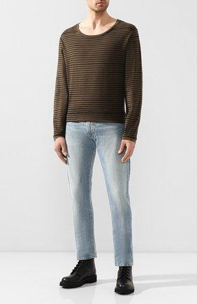 Мужская хлопковый лонгслив black label HARLEY-DAVIDSON коричневого цвета, арт. 96446-16VM | Фото 2 (Рукава: Длинные; Материал внешний: Хлопок; Длина (для топов): Стандартные)