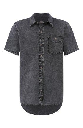 Мужская джинсовая рубашка black label HARLEY-DAVIDSON серого цвета, арт. 96433-16VM | Фото 1
