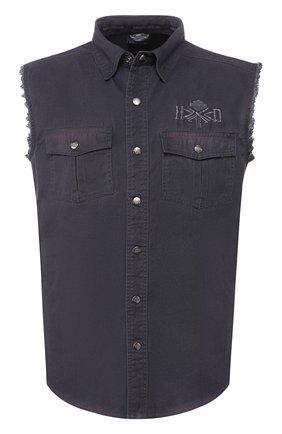 Мужская джинсовая рубашка genuine motorclothes HARLEY-DAVIDSON серого цвета, арт. 96008-16VM | Фото 1