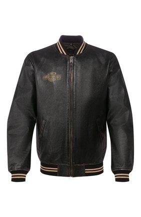 Мужской кожаный бомбер 1903 HARLEY-DAVIDSON черного цвета, арт. 97022-19VM   Фото 1