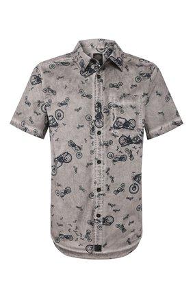 Мужская хлопковая рубашка black label HARLEY-DAVIDSON серого цвета, арт. 96663-17VM | Фото 1