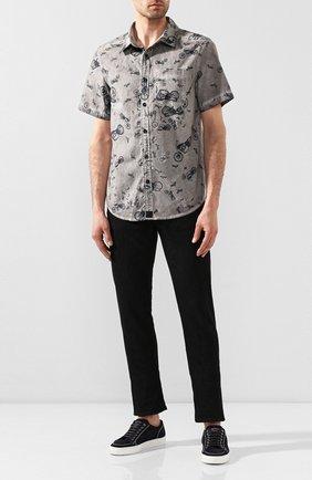 Мужская хлопковая рубашка black label HARLEY-DAVIDSON серого цвета, арт. 96663-17VM | Фото 2