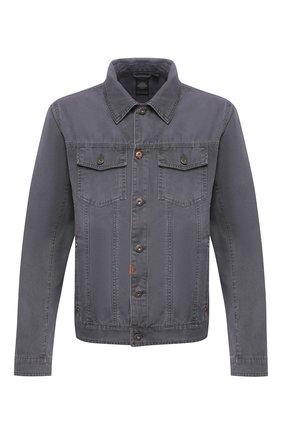 Мужская джинсовая куртка black label HARLEY-DAVIDSON серого цвета, арт. 96655-17VM   Фото 1