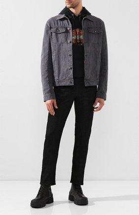 Мужская джинсовая куртка black label HARLEY-DAVIDSON серого цвета, арт. 96655-17VM   Фото 2