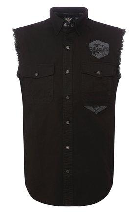 Мужская джинсовая рубашка genuine motorclothes HARLEY-DAVIDSON черного цвета, арт. 96151-16VM | Фото 1