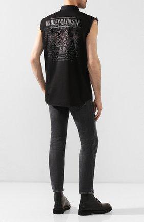 Мужская джинсовая рубашка genuine motorclothes HARLEY-DAVIDSON черного цвета, арт. 96151-16VM | Фото 2