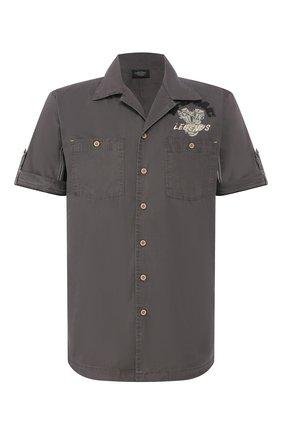 Мужская хлопковая рубашка black label HARLEY-DAVIDSON серого цвета, арт. 96640-12VM   Фото 1
