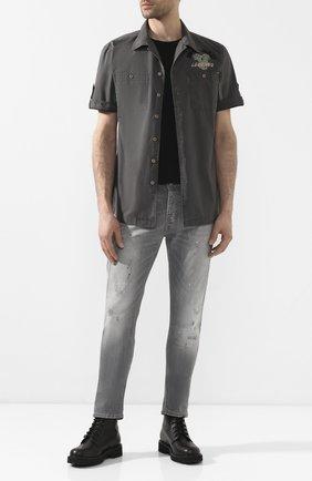 Мужская хлопковая рубашка black label HARLEY-DAVIDSON серого цвета, арт. 96640-12VM   Фото 2