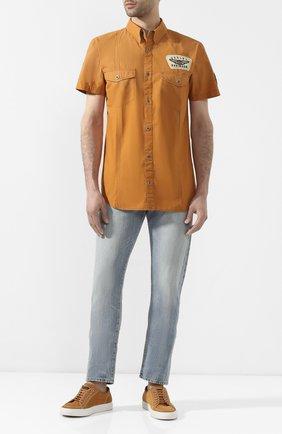 Мужская хлопковая рубашка black label HARLEY-DAVIDSON оранжевого цвета, арт. 96554-11VM | Фото 2