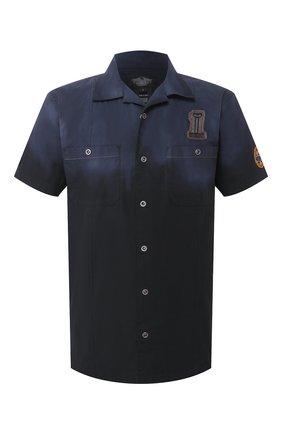 Мужская хлопковая рубашка black label HARLEY-DAVIDSON темно-синего цвета, арт. 96553-11VM | Фото 1