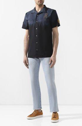 Мужская хлопковая рубашка black label HARLEY-DAVIDSON темно-синего цвета, арт. 96553-11VM | Фото 2