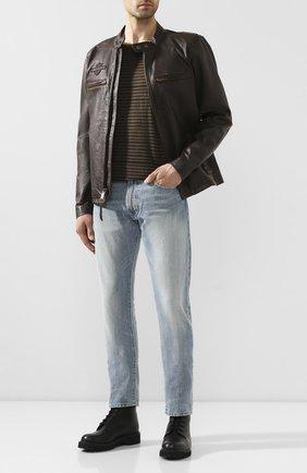 Мужская кожаная куртка 1903 HARLEY-DAVIDSON коричневого цвета, арт. 97015-20VM | Фото 2 (Материал подклада: Синтетический материал; Длина (верхняя одежда): Короткие; Мужское Кросс-КТ: Кожа и замша, Верхняя одежда, Куртка-верхняя одежда; Рукава: Длинные; Кросс-КТ: Куртка)