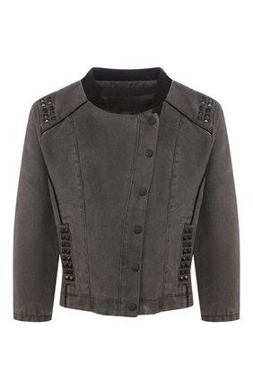 Женская джинсовая куртка black label HARLEY-DAVIDSON серого цвета, арт. 97556-15VW   Фото 1