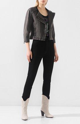 Женская джинсовая куртка black label HARLEY-DAVIDSON серого цвета, арт. 97556-15VW   Фото 2