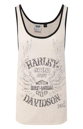 Женский майка genuine motorclothes HARLEY-DAVIDSON белого цвета, арт. 96045-15VW | Фото 1