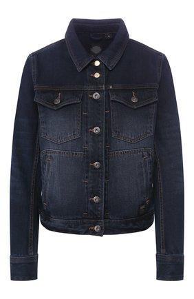 Женская джинсовая куртка garage HARLEY-DAVIDSON черного цвета, арт. 96082-18VW   Фото 1