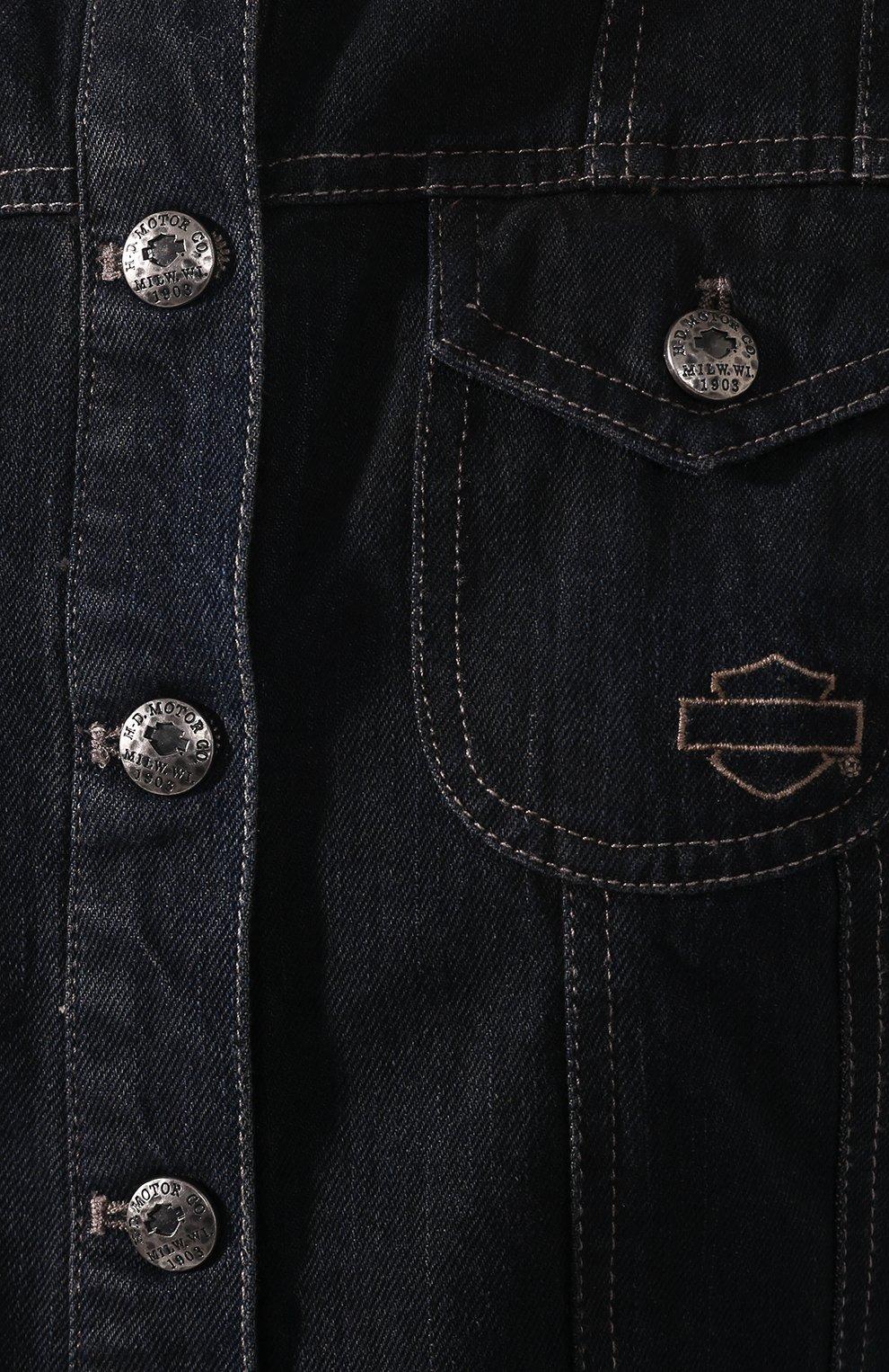 Женский джинсовый жилет genuine motorclothes HARLEY-DAVIDSON черного цвета, арт. 96152-17VW | Фото 5
