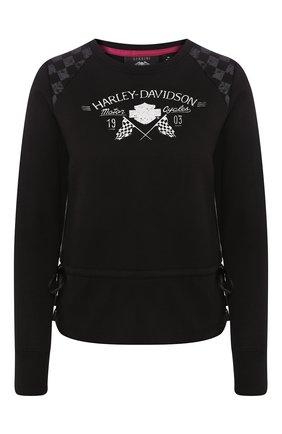 Женский свитшот genuine motorclothes HARLEY-DAVIDSON черного цвета, арт. 96146-18VW | Фото 1