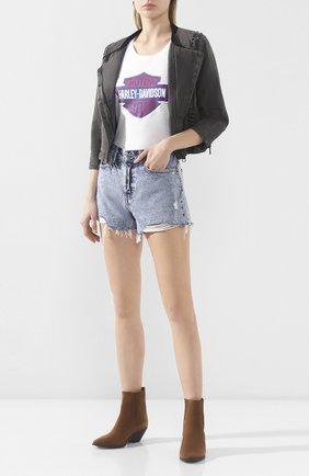 Женская хлопковая футболка exclusive for moscow HARLEY-DAVIDSON белого цвета, арт. 30298782   Фото 2