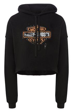 Женский худи genuine motorclothes HARLEY-DAVIDSON черного цвета, арт. 96499-20VW   Фото 1