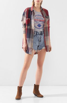 Женская хлопковая футболка exclusive for moscow HARLEY-DAVIDSON серого цвета, арт. 30292356 | Фото 2