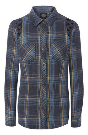 Женская хлопковая рубашка garage HARLEY-DAVIDSON синего цвета, арт. 96113-18VW | Фото 1