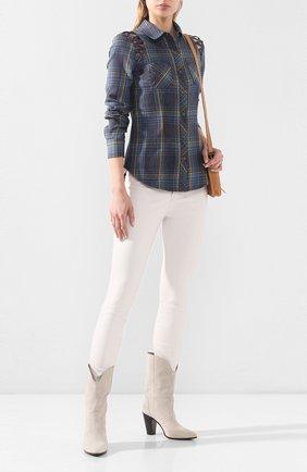 Женская хлопковая рубашка garage HARLEY-DAVIDSON синего цвета, арт. 96113-18VW | Фото 2