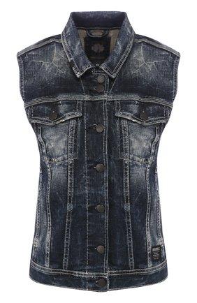 Женский джинсовый жилет black label HARLEY-DAVIDSON синего цвета, арт. 96368-16VW | Фото 1