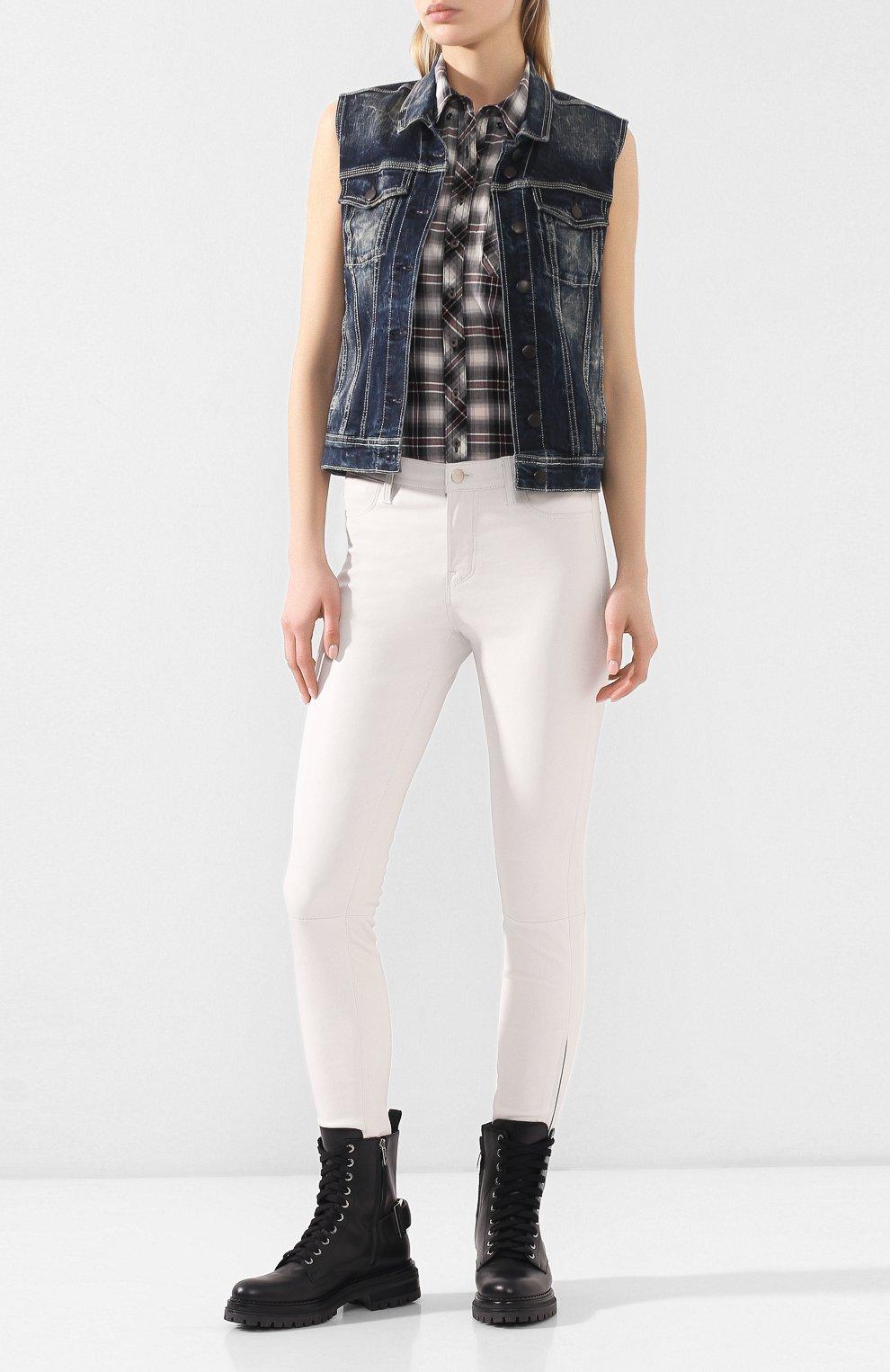 Женский джинсовый жилет black label HARLEY-DAVIDSON синего цвета, арт. 96368-16VW | Фото 2