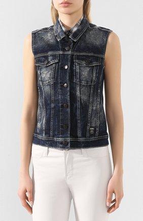 Женский джинсовый жилет black label HARLEY-DAVIDSON синего цвета, арт. 96368-16VW | Фото 3