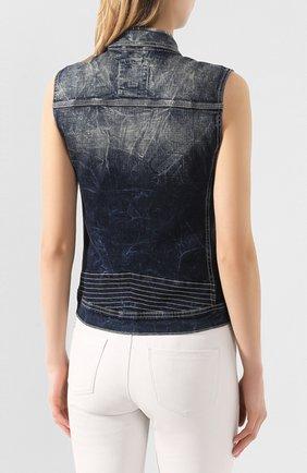 Женский джинсовый жилет black label HARLEY-DAVIDSON синего цвета, арт. 96368-16VW | Фото 4