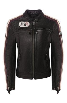 Женская кожаная куртка genuine motorclothes HARLEY-DAVIDSON черного цвета, арт. 97005-18EW | Фото 1