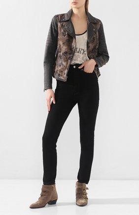 Женская джинсовая куртка genuine motorclothes HARLEY-DAVIDSON коричневого цвета, арт. 97554-16VW   Фото 2