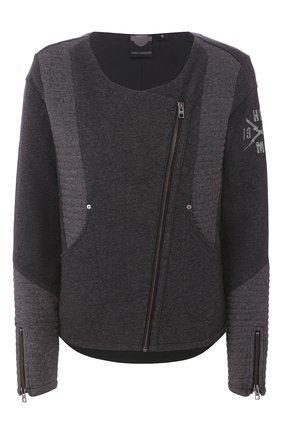 Женская хлопковая куртка black label HARLEY-DAVIDSON серого цвета, арт. 97598-16VW   Фото 1