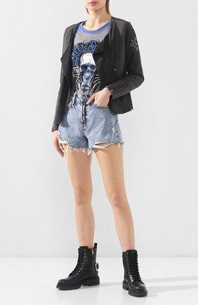 Женская хлопковая куртка black label HARLEY-DAVIDSON серого цвета, арт. 97598-16VW   Фото 2