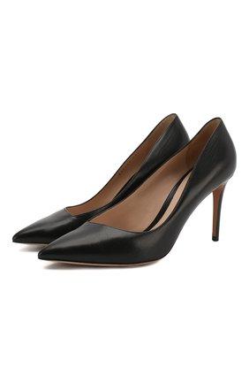 Женская кожаные туфли GIORGIO ARMANI черного цвета, арт. X1E713/XC087 | Фото 1